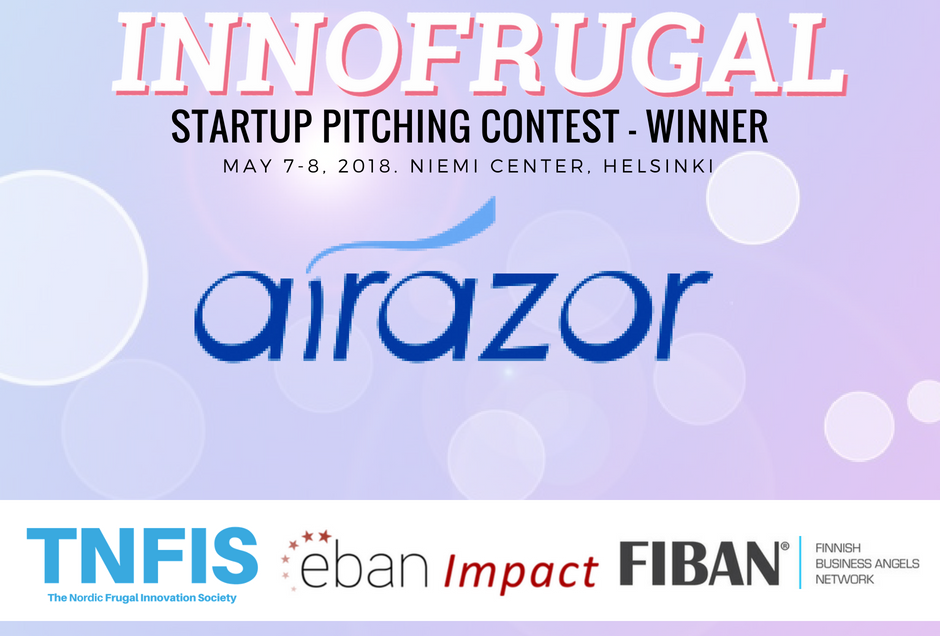 Announcement – Singapore Based Startup AiRazor Wins The InnoFrugal 2018 Pitching Contest & Is Going To EBAN Annual Conference in Bulgaria